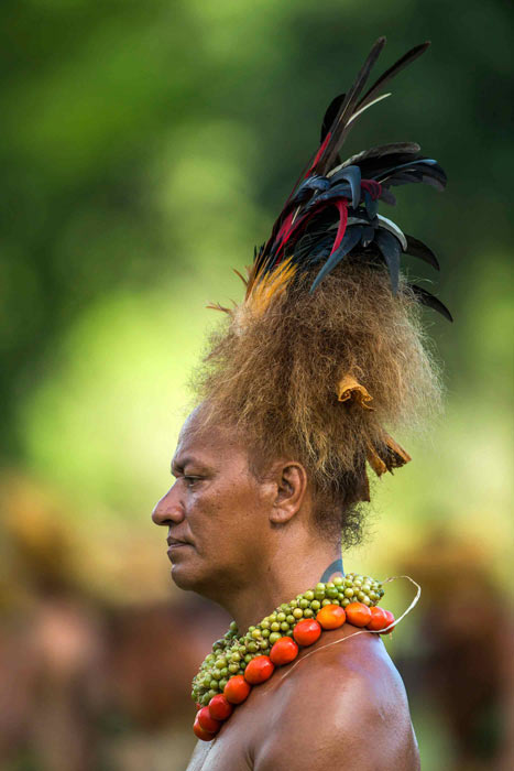 Coiffe de costume traditionnel des îles