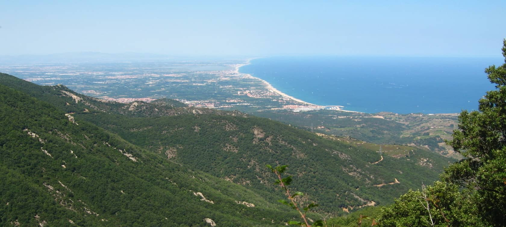 Argelès-sur-Mer vue depuis le contrefort des Albères, photo d'Adeline Antonetti